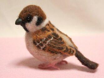 羊毛フェルト 小さな野鳥(スズメ)の画像