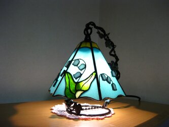 ステンドグラス 鈴蘭ランプ(六面)の画像