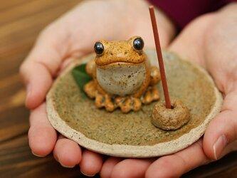 福々カエルお香立て 無事かえるの画像