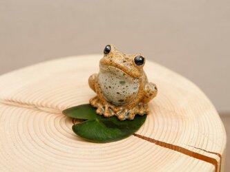陶器のカエル 福が「かえる」、人が無事「かえる」 シロ小の画像