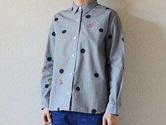 ギンガムチェックシャツ <水玉と梅>の画像