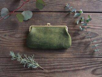がま口財布 [Una borsa] オリーブの画像