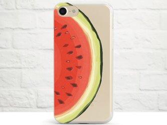 Watercolor Watermelon クリアソフト ケースの画像