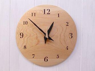 ヒノキ 26㎝ 曲面時計euph 010s 文字盤茶色の画像