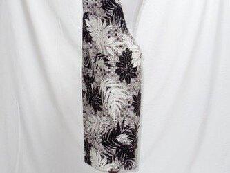 ハワイアン エプロン カヒコ柄 フリーサイズ ブラック/クリーム[hap-fb019PB]の画像