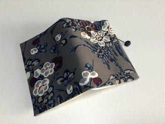 ★再販★    362    着物リメイク    錦紗    梅花模様     文庫サイズブックカバーの画像