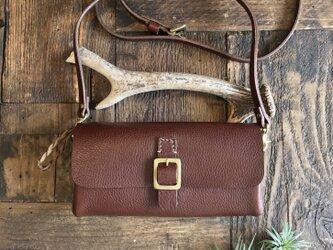 *受注製作*wallet bag(choco)の画像