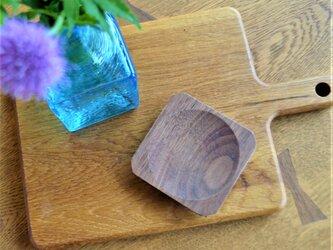 豆皿 maru 楢(ナラ) / ウォールナット 0008の画像