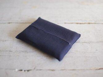 大人のリネンのポケットティッシュカバー《紺色》の画像