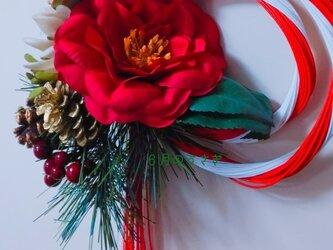 2018年お正月ドア飾り~ 紅白水引リース~の画像