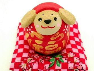 【数量限定】福犬だるま(ふかふか座布団付き)の画像
