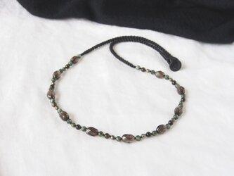 【Sale】Smoky&Green Shine Necklaceの画像