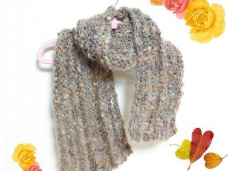 上質 輸入毛糸のふわふわマフラーの画像