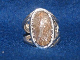 ルチルクォーツのリングの画像