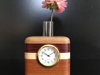 一輪挿し時計の画像