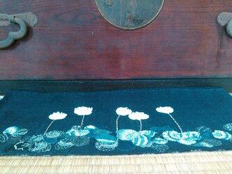 [受注制作]ヴィンテージ木綿のタペストリー あなたに会いたくなって しろつめ草の画像