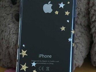 iPhone グリッターデコケース 流星の画像