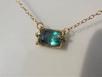 グリーンブルートルマリンのネックレスの画像