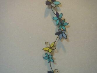 ステンドグラス  花飾り1の画像