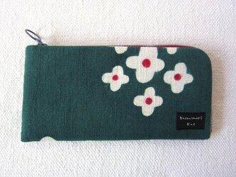 型染め 長財布「春の野花」の画像