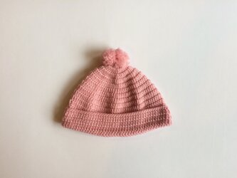 |SALE| ポンポン付 ニット帽 0歳/6ヶ月の画像