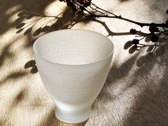 無色透明のグラス -「 The Vessel of Light - 月明かりの器 」● 高さ7cmの画像