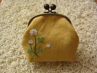 手刺繍・がまぐちポーチ(MIUさまオーダー品)の画像