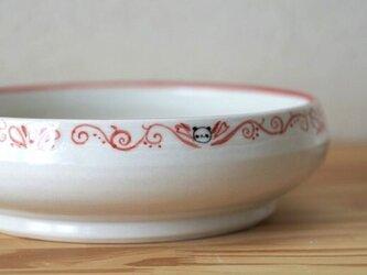 パンダ赤絵中鉢の画像