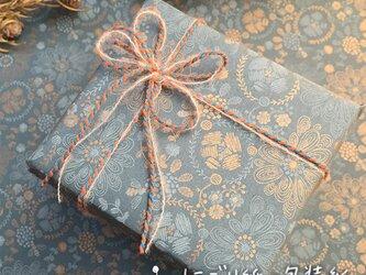 にごり紙の包装紙【大輪の花】の画像