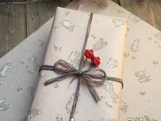 クラフト紙の包装紙【SHIBA】の画像