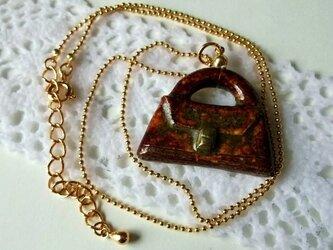 陶ネックレス-飴色のバッグの画像