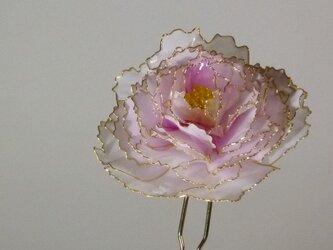寒牡丹の簪(ピンク:二本ざし)の画像