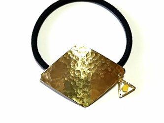 真鍮ダイヤ ヘアゴムの画像
