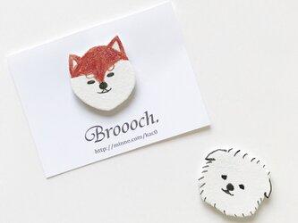【新作】犬:::ブローチの画像