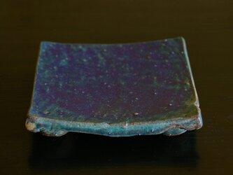 足付角皿(ペルシャ釉) ※一点ものの画像
