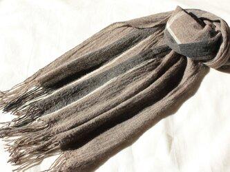 ヤク4色のマフラー 幅広め  手織りの画像