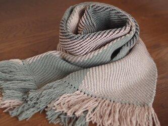 [受注製作]やわらかウールの綾織りマフラーの画像