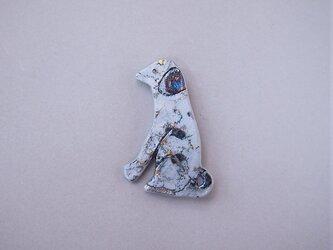 【受注制作】犬ブローチ feeling gray-1の画像