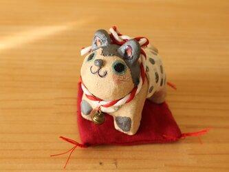 干支の陶張り子犬。(大)の画像