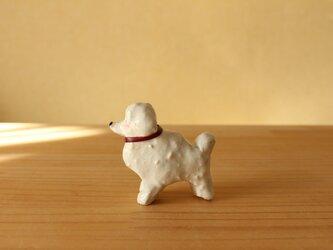 干支の陶犬。(プードル)の画像