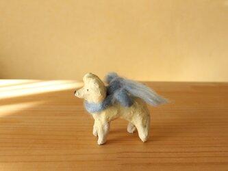 干支の陶犬。(トイプードル)の画像