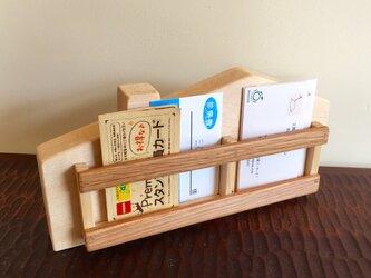 家型カードスタンド・・・カードや名刺の整理に・・スマホも入りますの画像