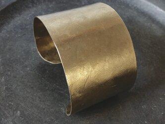 真鍮の太バングルの画像