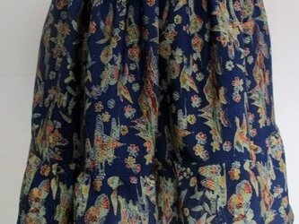 送料無料 小紋の着物で作ったミニスカート 3216 の画像