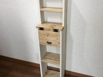 SLIM:display shelf cabinet WB h112 上段飾り棚付きキャビネットの画像