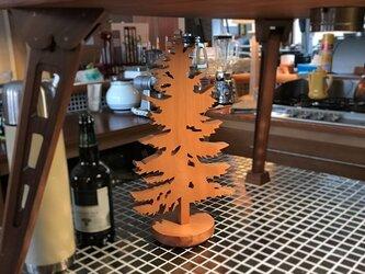 【送料無料】wood Tree 木のオブジェ 外枠付き! 【1点もの】天然無垢/飛騨産材/『桂』材 his-295の画像