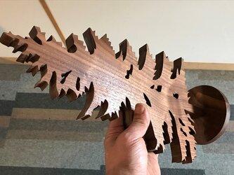 【送料無料】wood Tree 木のオブジェ 外枠付き! 【1点もの】天然無垢材・『ブラックウォールナ his-296の画像