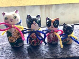 縁起モノ⁉️手のひら猫こけしちゃんズの画像