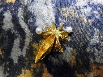 【受注生産】スターアニスの淡水パール・ピン(真鍮)の画像