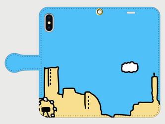 横浜イラスト・スマホケース(手帳型)iPhone&Android対応 横浜「みなとみらい」のPOPでカワイイのイラスト♪の画像